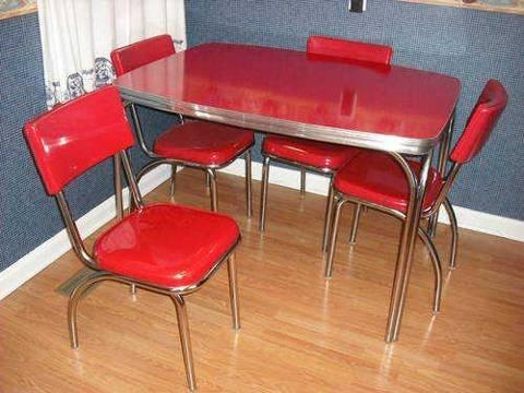 red formica dinette set some favorites pinterest. Black Bedroom Furniture Sets. Home Design Ideas