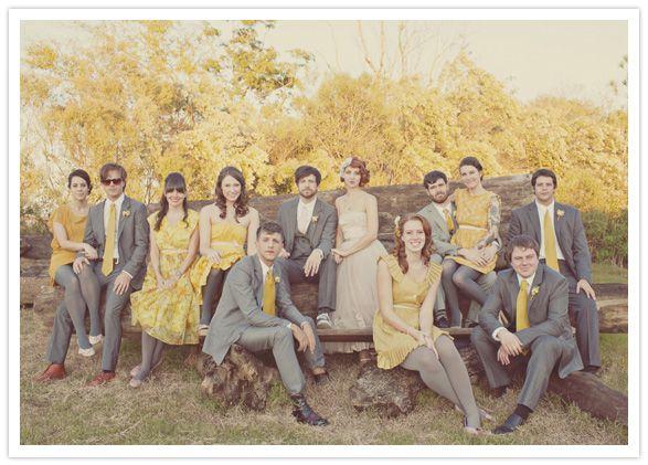 mustard-yellow-wedding-party!