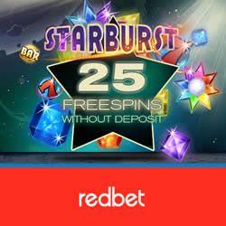 100 free spins p� starburst