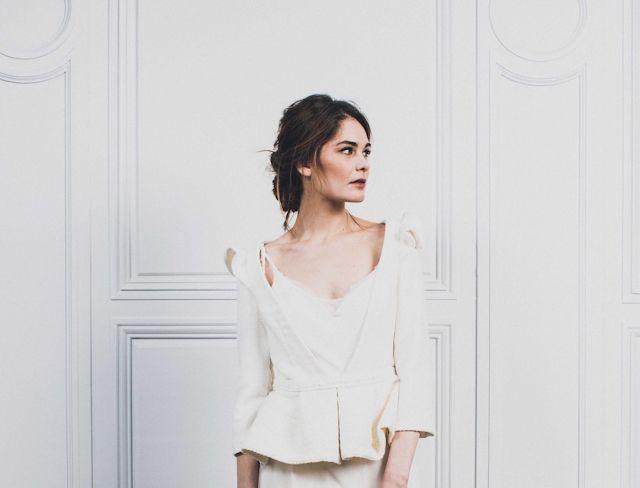 en laine et manches trois quarts - Carnets de mariage robe de mariee ...