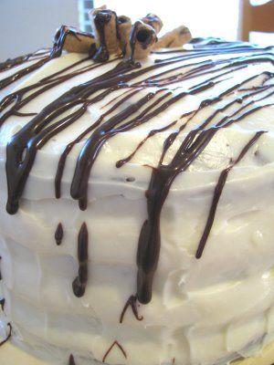 Mile High Cheesecake Layered Chocolate Cake