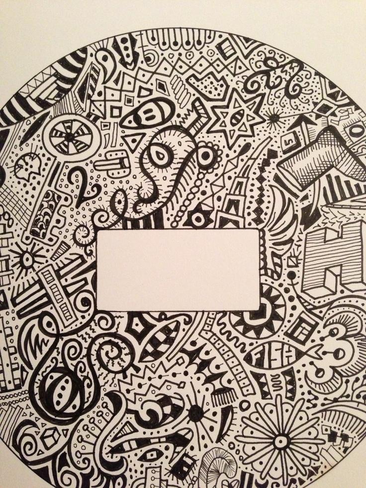 doodle name plate tattoo design zentangles and doodles and printab. Black Bedroom Furniture Sets. Home Design Ideas