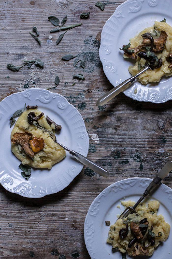polenta with sage and wild mushrooms