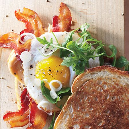 Bacon and Egg Sandwiches with Pickled Spring Onions Recipe #brunch # ...