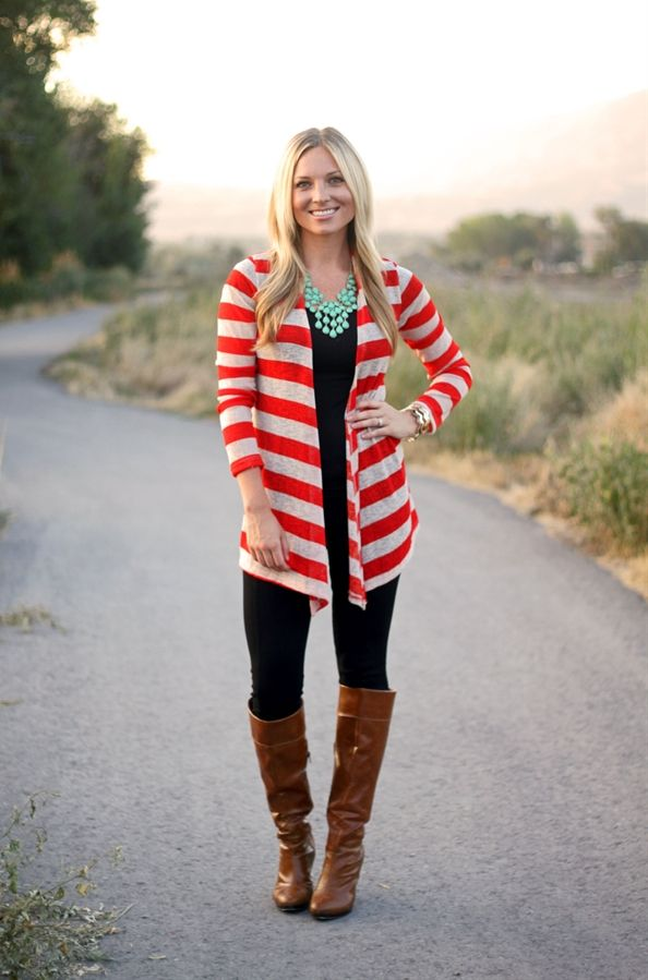 Lightweight Striped Cardigan! | Very Jane
