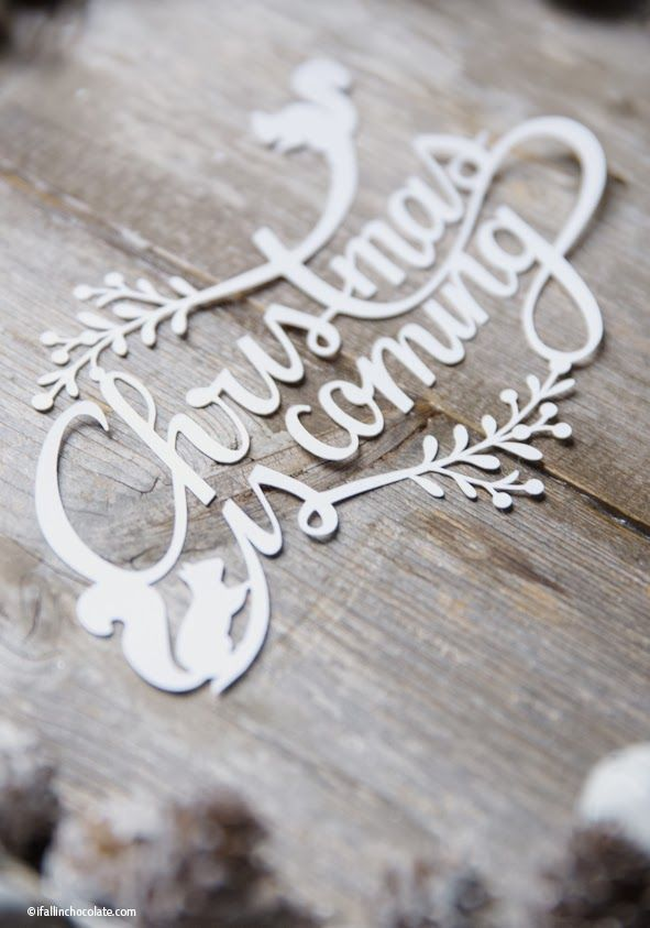 Christmas is coming - paper cut! Love this!