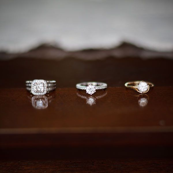 rings from each generation in a family #bridal #shower