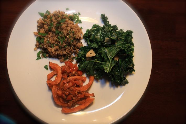 Butternut Squash, Green Lentil & Brown Basmati Rice Pilaf, Kale ...