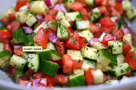 Israeli salad & pita chips | Food & Drink | Pinterest
