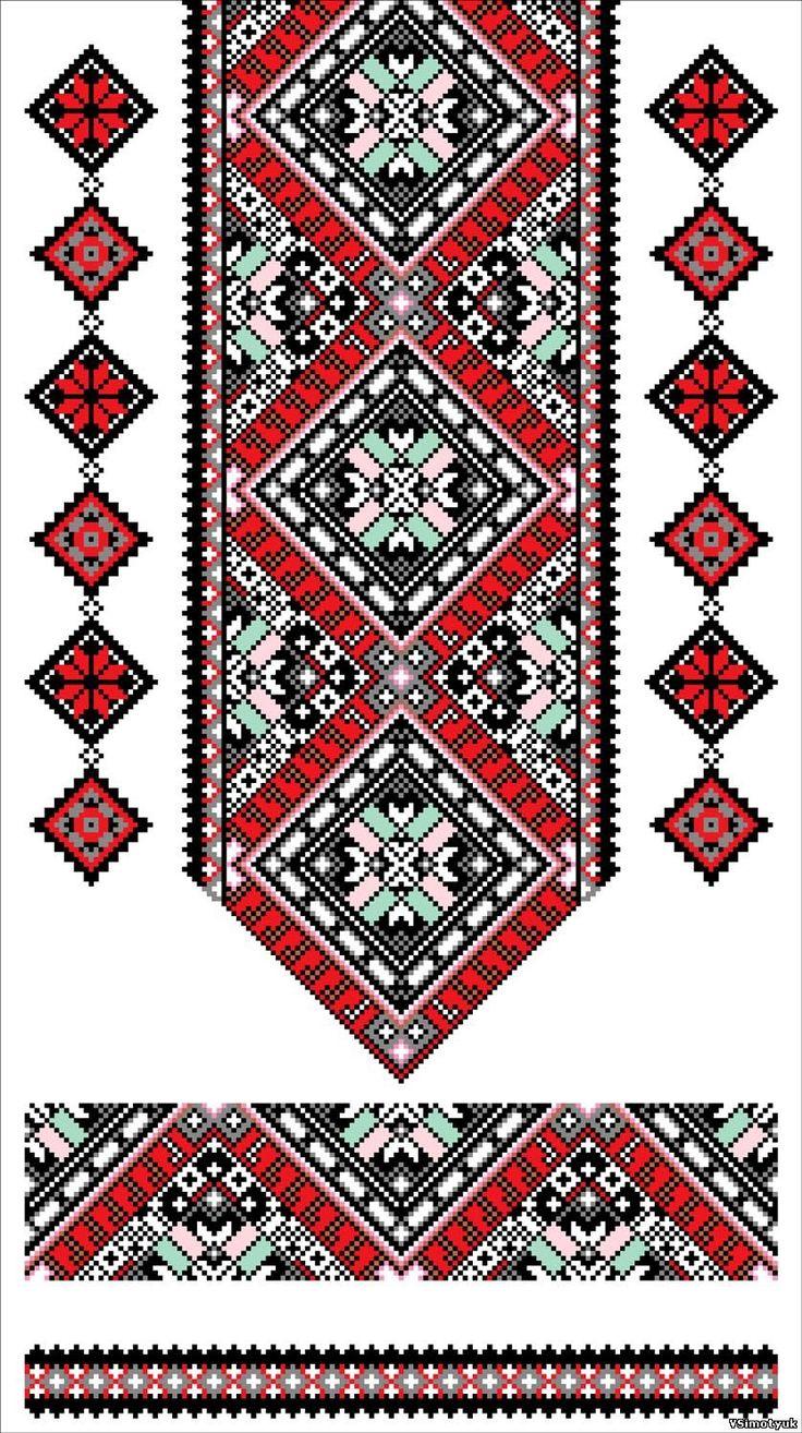 Вышиванка украинская крестом схемы