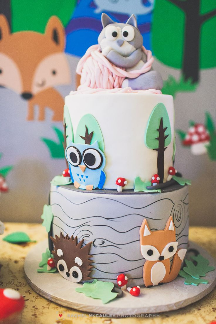 woodland creature baby shower cake inspiration pinterest