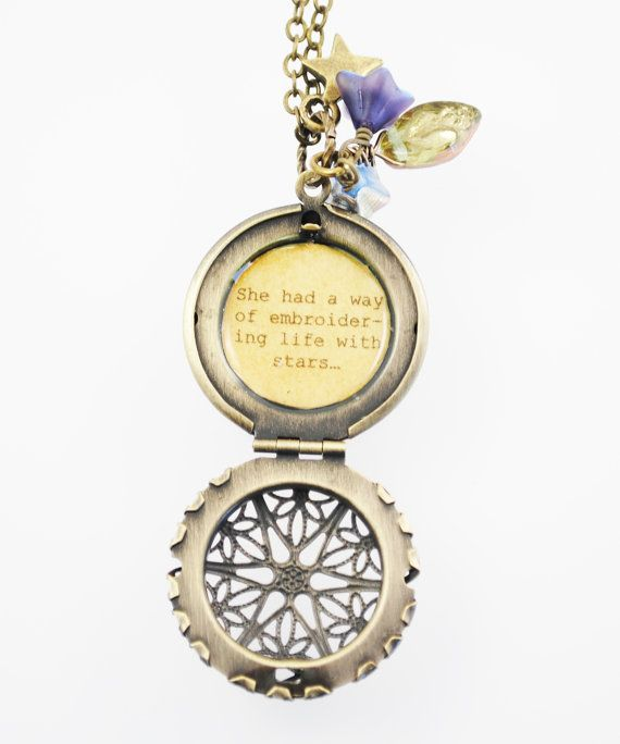 e4176d860f41 SHAKESPEARE QUOTE GOLD NECKLACE inspirational jewelry