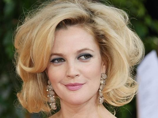 Drew Barrymore Voluminous Hairstyle