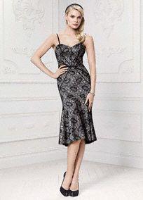 Truly Zac Posen Short Bonded Lace Mermaid Dress, Style ZP281428 #davidsbridal #partydress #zacposen