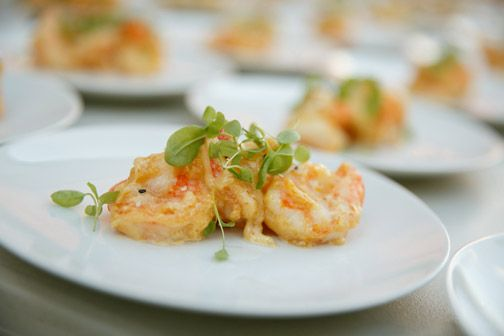 ... Chef Bobby Moore of Barking Frog's Signature Dish-Grand Marnier Prawns