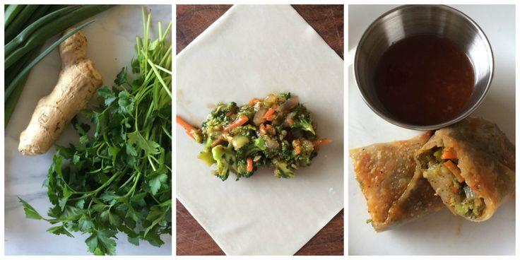 Crispy Baked Broccoli Sriracha Egg Rolls | recipes - asian fusion | P ...