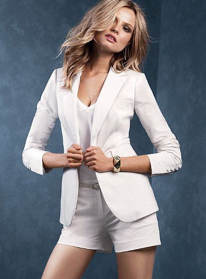 Women tailored shortsuits for spring-summer