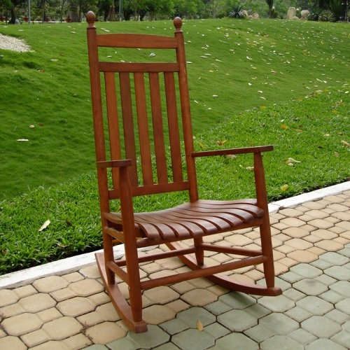 Outdoor wood rocking chair yard and patio pinterest