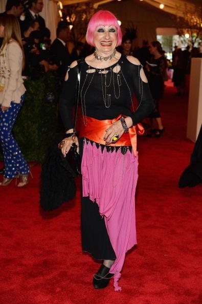 Zandra Rhodes punk style at the Met Gala 2013