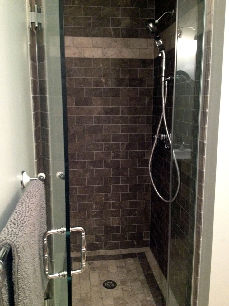 Tile shower stall new home projects pinterest Tile shower stalls