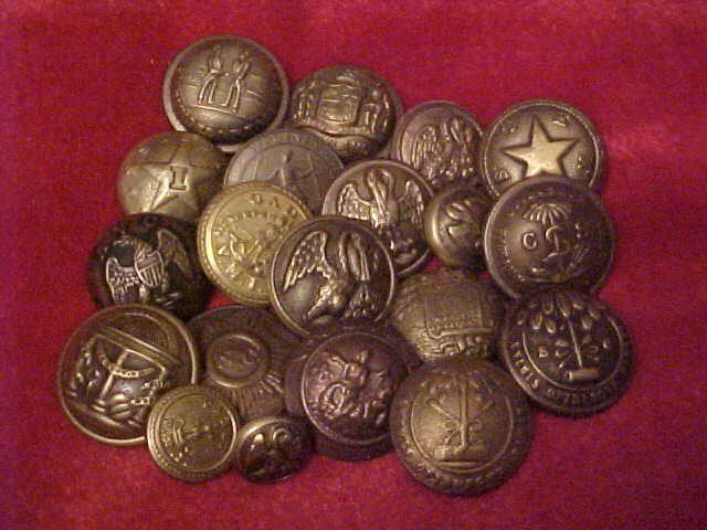 Civil War Uniform Buttons 25
