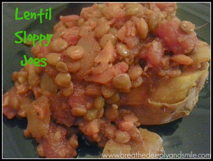 Lentil Sloppy Joes-a heart, meatless dinner perfect for fall!  http://www.breathedeeplyandsmile.com/2014/09/lentil-sloppy-joes.html