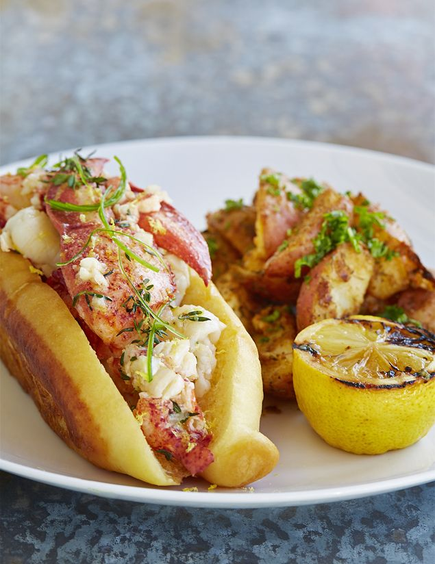 TJ's Seafood Market Lobster Roll with Old Bay Potatoes... YUM! You ...