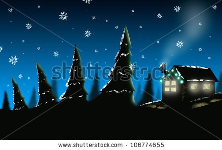 christmas scene silhouette - Bing Images