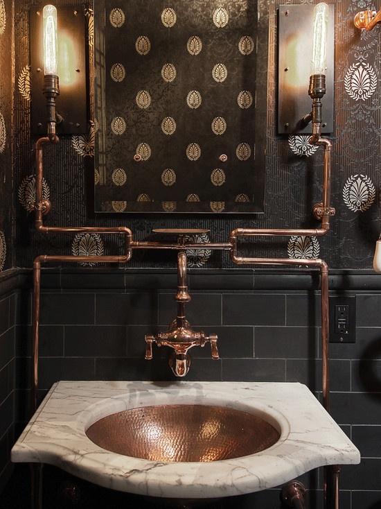 Steampunk Bathroom Decorating Ideas on Steampunk Interior Design