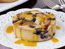 Blueberry and Plum Cornmeal Cakes | French Toast/Pancakes/Waffles ...