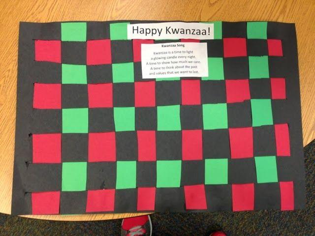 Prek Kwanzaa Mat Weaving My Pre K Classroom Projects