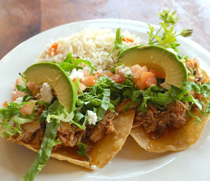 Chicken Tinga Tostadas. www.Liberty-Bar.com