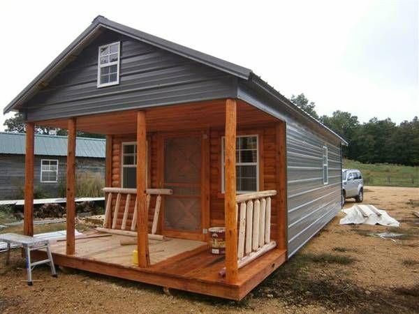 7500 12x24 Shell W Metal Siding Tiny House Ideas
