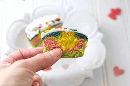 More like this: rainbow cupcakes , rainbow heart and heart cupcakes .