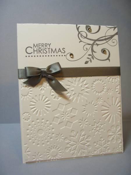 Elegant christmas card cards pinterest for Easy xmas cards
