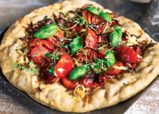 Oven-dried Tomato and Basil Pizza Recipe : Cook Vegetarian Magazine ...