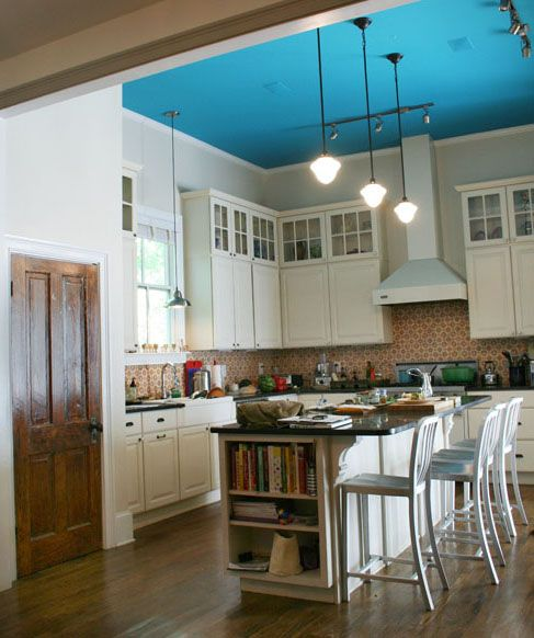 Blue Kitchen Ceiling: Dwell - Cook And Eat
