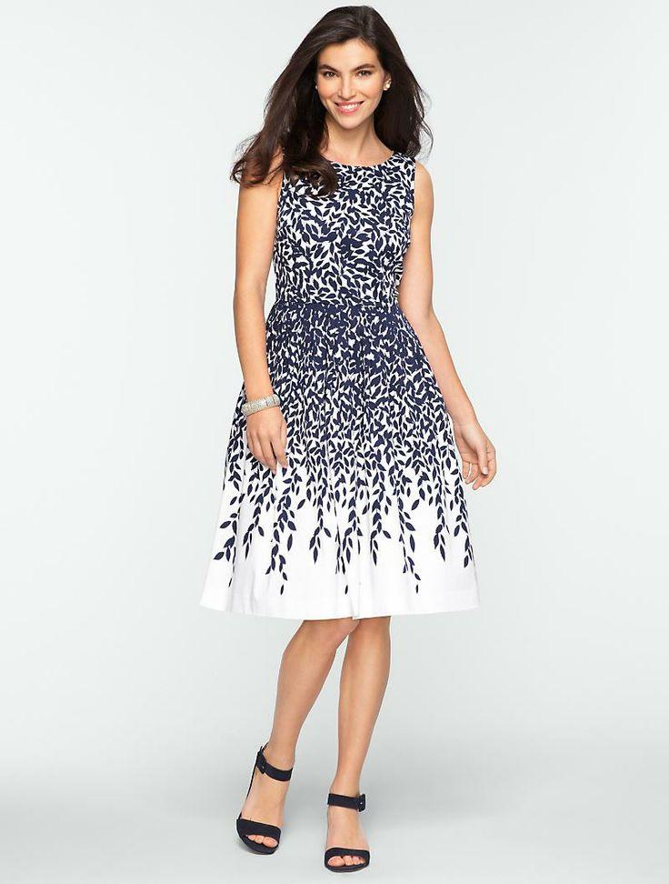 Talbots leaf print dress lovely styles pinterest for Talbots dresses for weddings