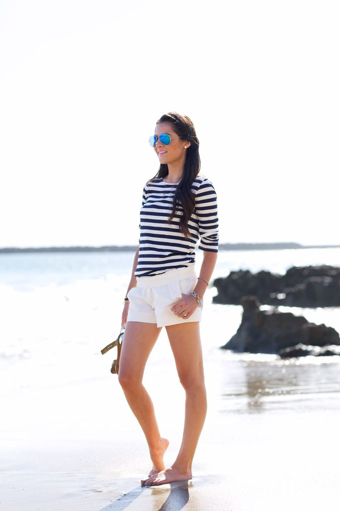 jcrew-factory-white-summer-shortsTee: J.Crew Factory | Shorts: J.Crew Factory | Swimsuit: Shoshanna | Glasses: Ray-Ban | Bracelets: David Yurman (here, here) | Earrings: Nadri | Sandals: Sam Edelman | Lips: Saint Germain by MAC