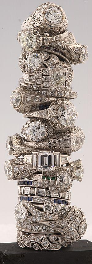 Barkers antique diamond rings.