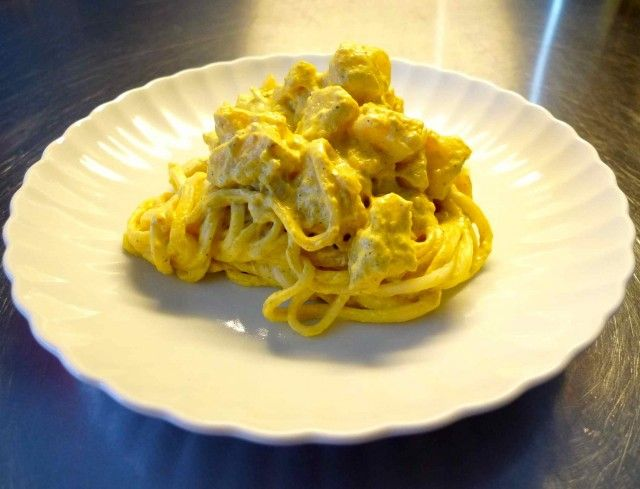 Vegan Creamy Curry Noodles with Jerusalem Artichokes (contains soy but ...