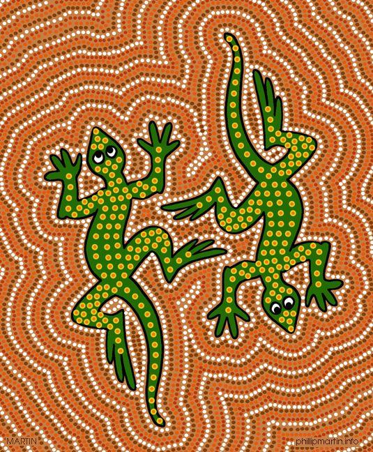 aboriginal art  pointillism