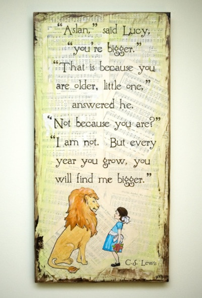 aslan. lucy. chronicles of narnia.