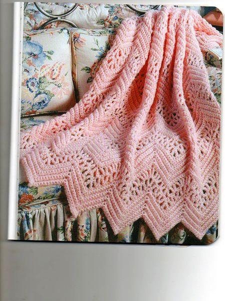 VICTORIAN LACE AFGHAN PATTERN Crochet-nice Pinterest