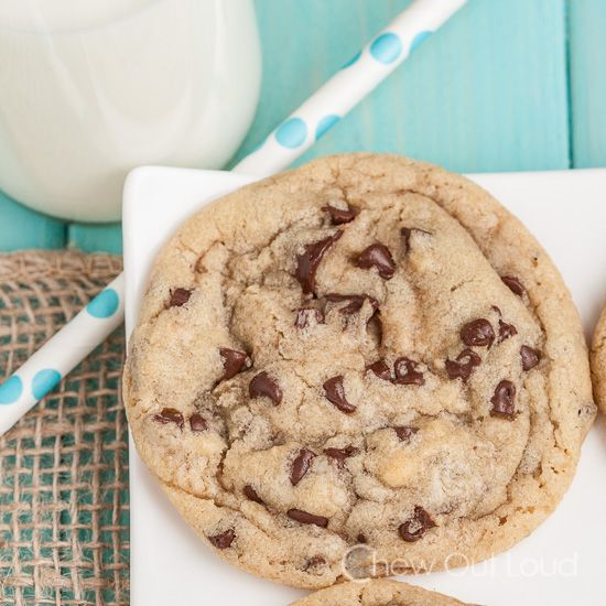 Thick and Chewy Chocolate Chip Cookies - Chew Out Loud - oh my!!
