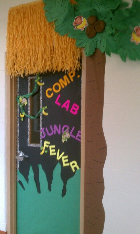 Classroom Door Ideas Jungle ~ Jungle theme door son treasure island vbs pinterest