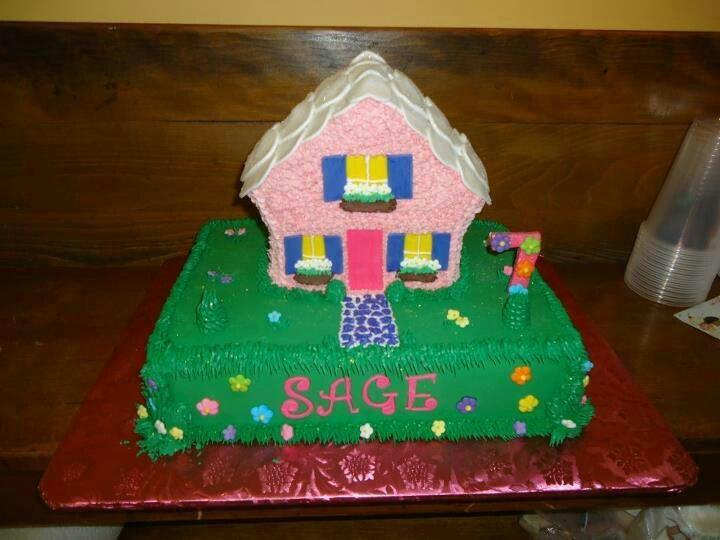 Doll house cake for a sweet little girl cakes Pinterest