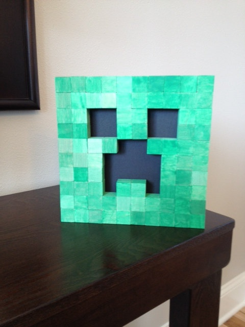 Wall Decorations Minecraft : Minecraft creeper wall art