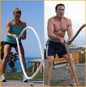 Heavy rope training, not just for men.