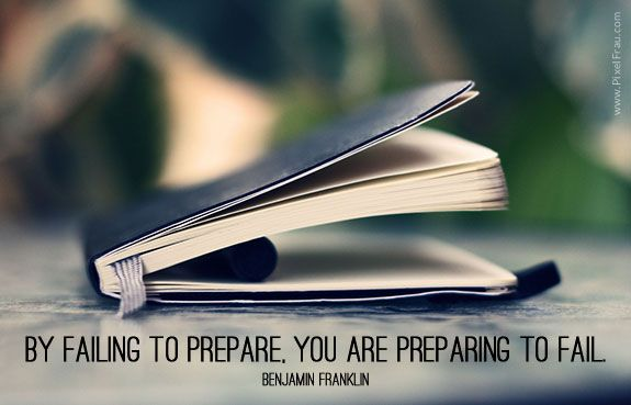 By failing to prepare, you are preparing to fail. [Motivational Quote] [Motivational Poster]